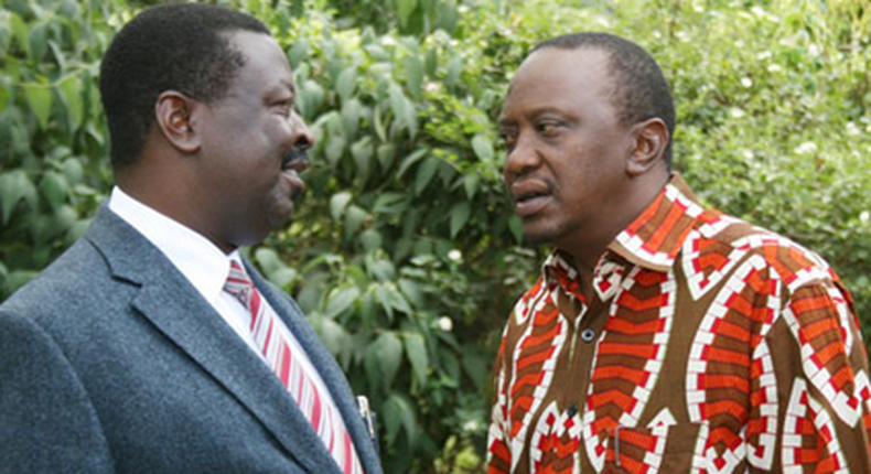 File image of President Uhuru Kenyatta with Musalia Mudavadi