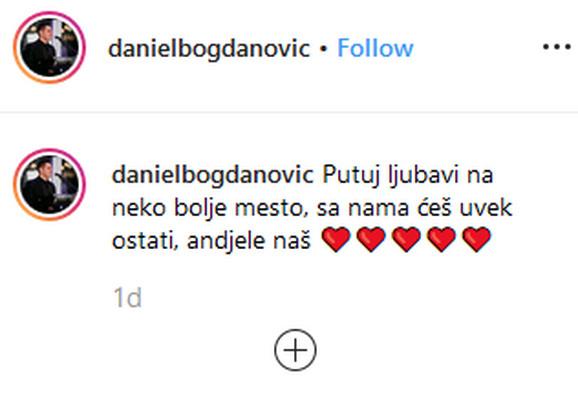 Daniel Bogdanović se oprostio od Sonje
