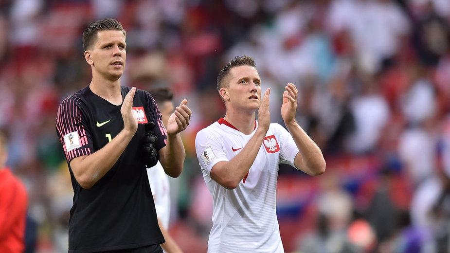 Wojciech Szczęsny i Piotr Zieliński