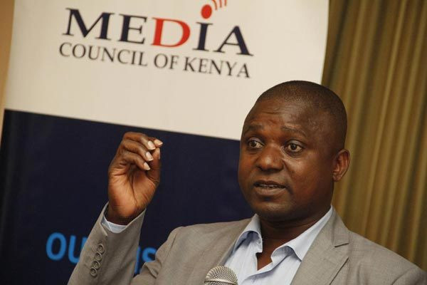 Media Council of Kenya deputy CEO Victor Bwire during a past event in Nairobi.