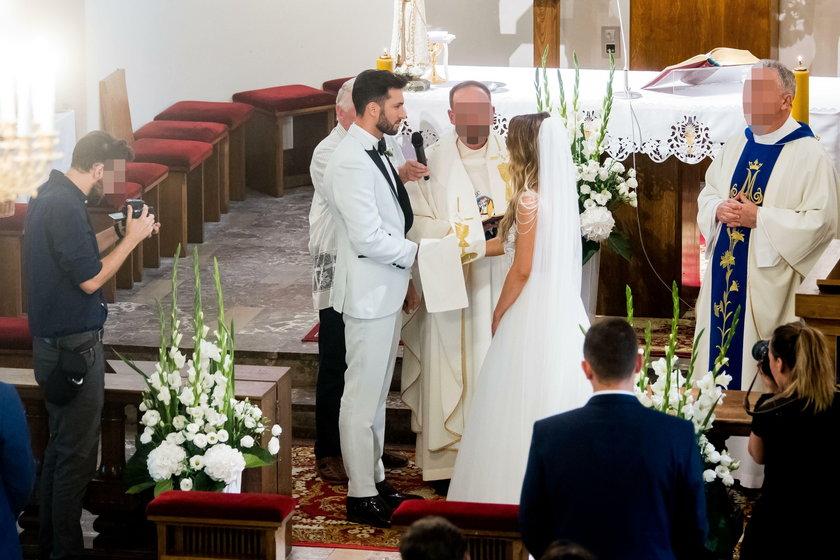 Ślub Rafała Maślaka i Karoliny Nicpoń