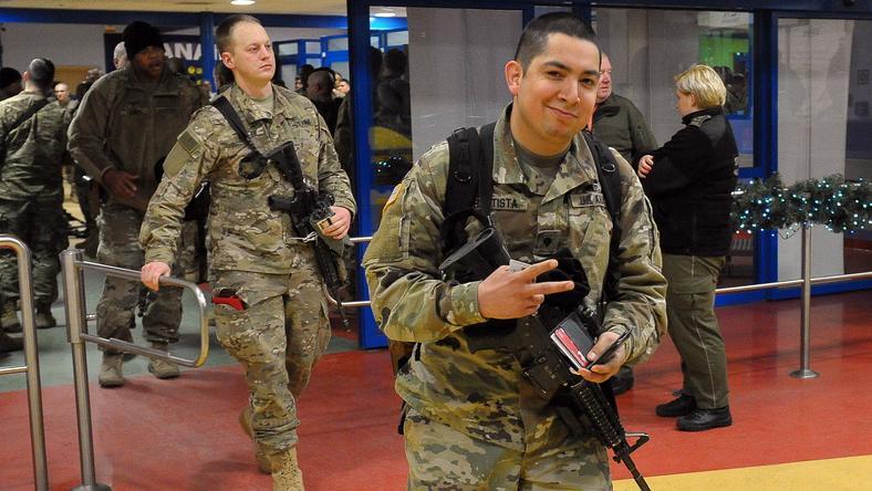 Amerykańscy żołnierze już przylecieli do Polski