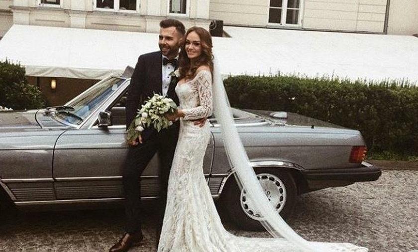 Sylwia Nowak z mężem