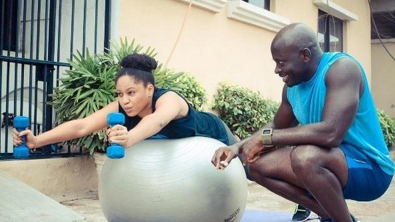 Muna sweating it out and living healthy