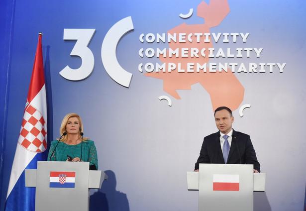 Prezydent Andrzej Duda i prezydent Chorwacji Kolinda Grabar-Kitarovic