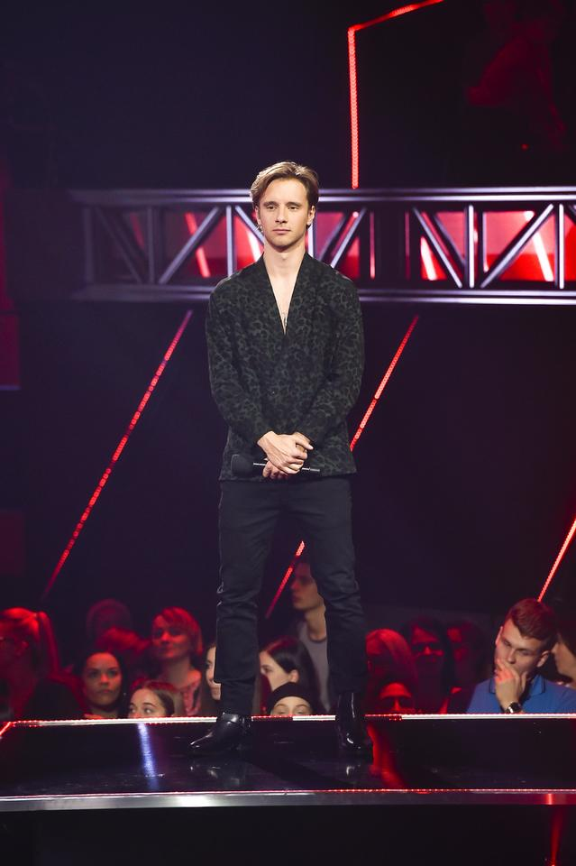 "Maciej Musiał na planie ""The Voice of Poland 10"""