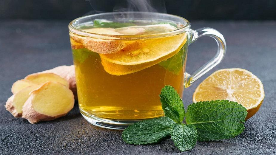 Herbata z imbirem