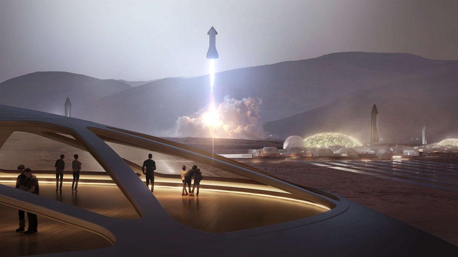 Elon Musk przedstawia plan miasta na Marsie