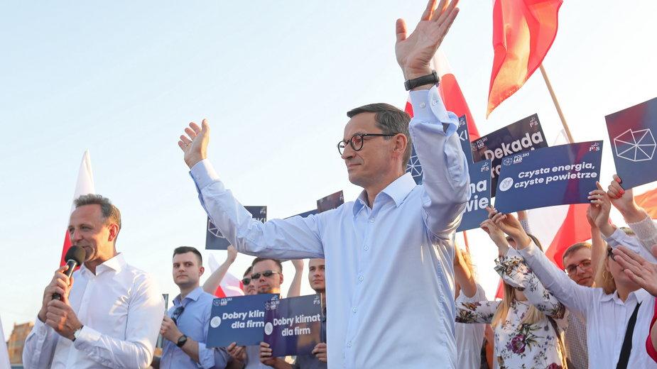 Premier podczas spotkania z wyborcami w Tykocinie, 23.07.2021 r.
