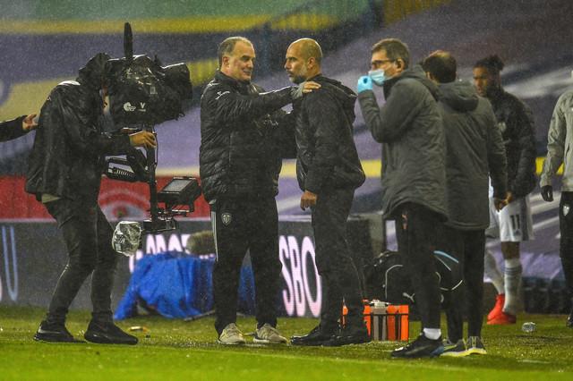 Marselo Bielsa i Pep Gvardiola nakon remija Sitija i Lidsa u Premijer ligi