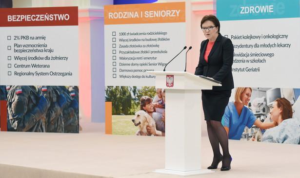 Premier Ewa Kopacz podsumowuje rok pracy rządu