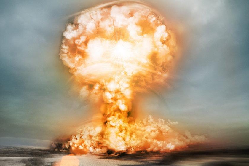 Wybuch bomby atomowej.