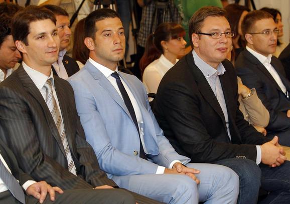 Marić, Udovičić, Vučić i Stefanović na predstavljanju Igara mladih