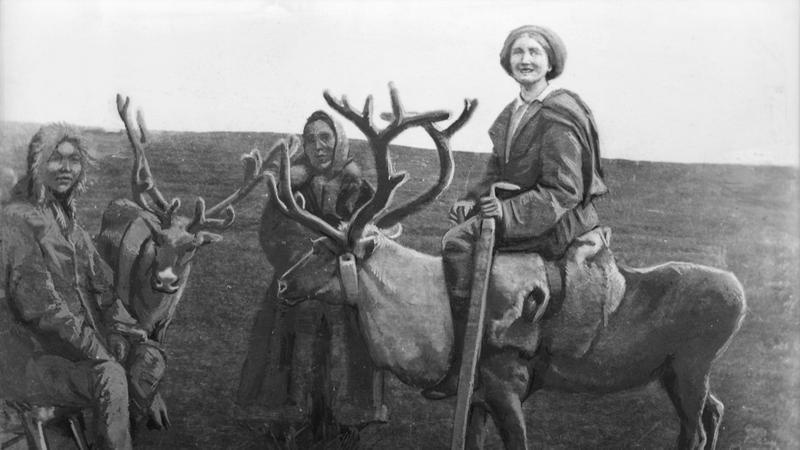 Maria Antonina Czaplicka podczas ekspedycji nad rzekę Jenisej (1914-15)
