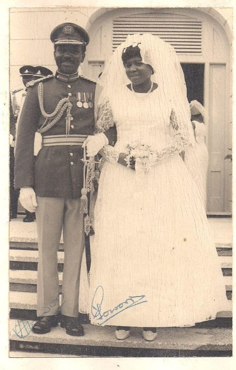 General and Mrs Yakubu Gowon on their Wedding Day in Lagos, April 19th, 1969 [Nigerian Nostalgia Project]