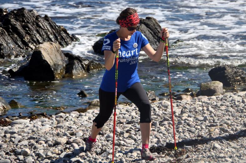 Adriana Szklarz nie poddała się. Treningi nordic walking pomogły jej wrócić do zdrowia po przeszczepie serca