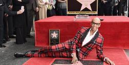 RuPaul z gwiazdą na słynnej hollywoodzkiej alei sław