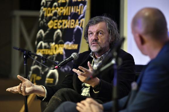 Emir Kusturica i Milan Nešković, pozorišni Kustendorf, radionica Emira Kusturice
