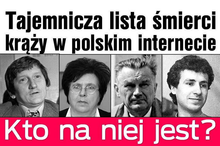 Lista śmierci krąży w polskim internecie. Kto na niej jest?