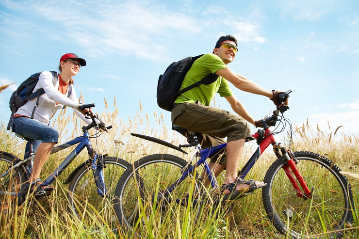 stock-photo-couple-of-cyclists-riding-bicycles-in-meadow-95154100