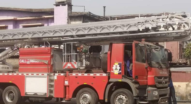 Fire truck of the Federal Fire Service [Twitter/@Fedfireng]