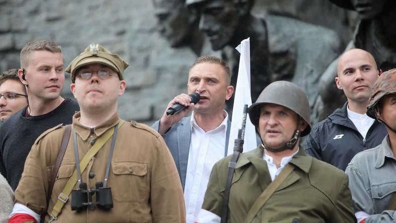 Prezes Stowarzyszenia Marsz Niepodległości Robert Bąkiewicz