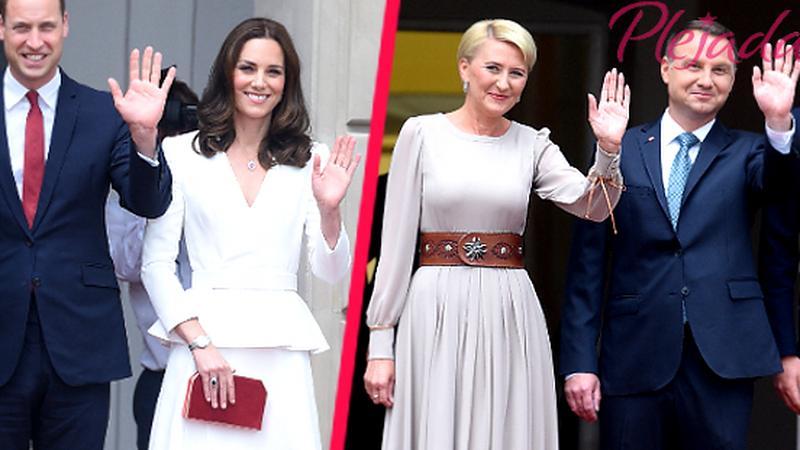 Książę William, księżna Kate, Agata Duda i Andrzej Duda w Warszawie