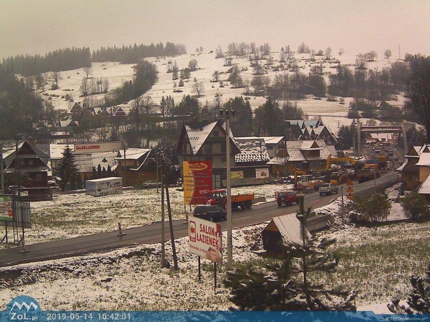 Majowy śnieg na południu Polski