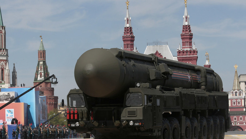 A Russian intercontinental-ballistic missile Yars is driven during the Victory Parade marking the 70th anniversary of the defeat of the Nazis in World War II, in Red Square, Moscow, May 9, 2015.
