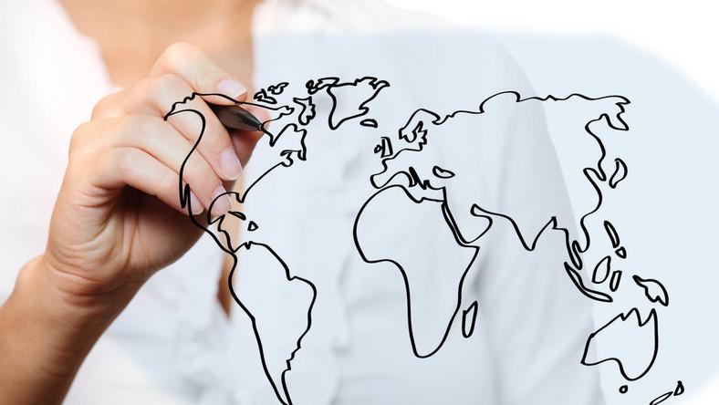 Mapa świata.