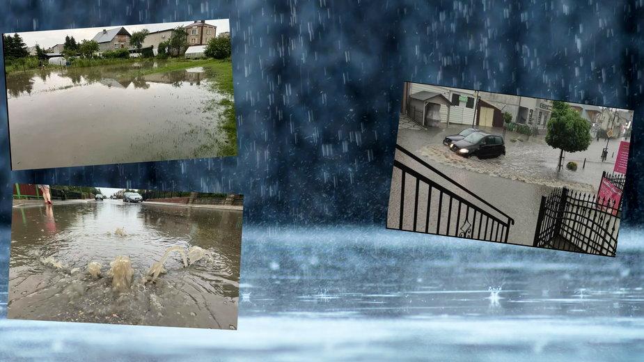 """Kolejne miasto zalane po intensywnych opadach. """"Armagedon nad Augustowem"""""""