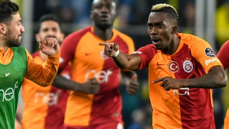 Monaco's Nigerian forward Henry Onyekuru (R) is returning for a second loan spell at Galatasaray