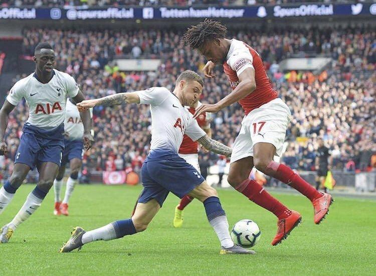 Alex Iwobi gave caused a lot of problems for Tottenham defence in the North London derby on Saturday  (Getty Images)
