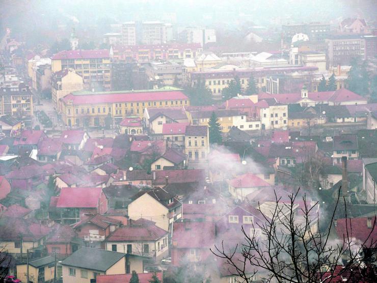 Aerozagađenje, Valjevo, centar Valjeva, Zlokućani, zagađenje vazduha