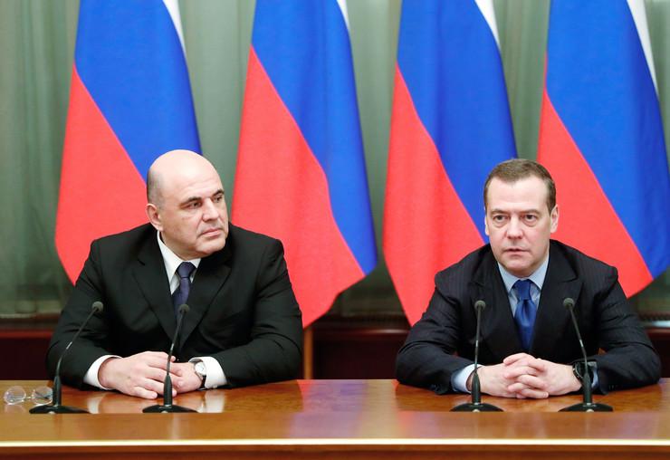 Mihail Mišustin Dimitrij Medvedev