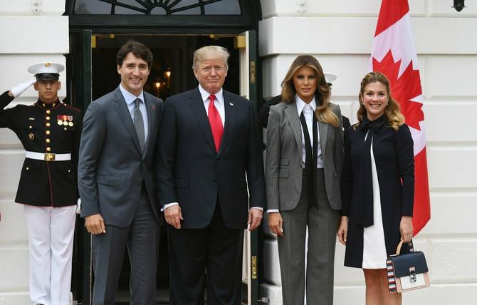Džastin Trudo, Sofi Gregoar Trudo, Donald i Melanija Tramp