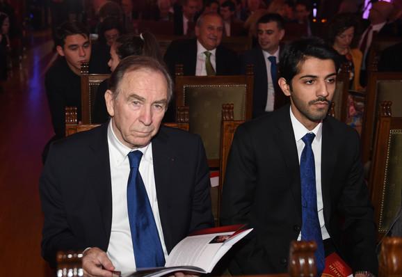 Bivši predsednik OKS-a Ivan Ćurković u Domu narodne skupštine tokom svečanosti Olimpijskog komiteta Srbije