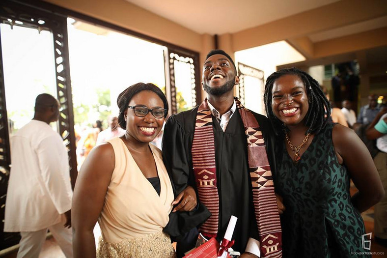 A happy graduate from Ashesi University
