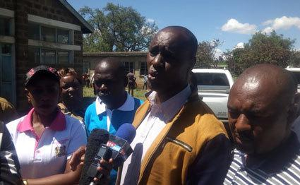 Stanley Karanja speaking to media during past clashes in the Mau area (twitter)