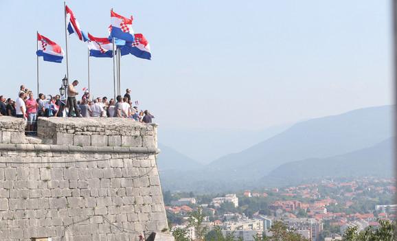 Pogled sa Kninske tvrđave
