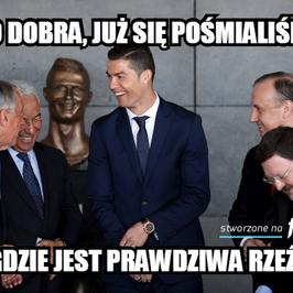 Popiersie Cristiano Ronaldo obiektem drwin. Internauci nie mieli litości