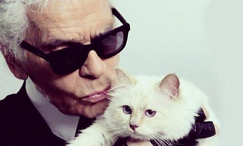 Karl Lagerfeld i Choupette