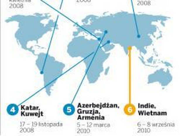 Podróże po świecie premiera Tuska
