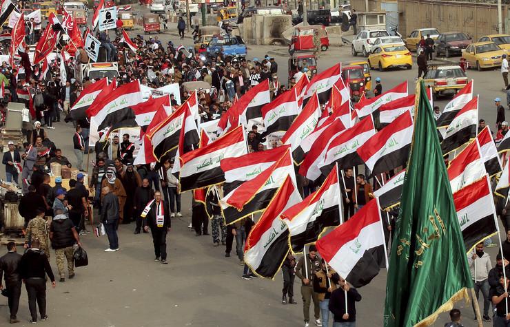 Irak, demonstranti