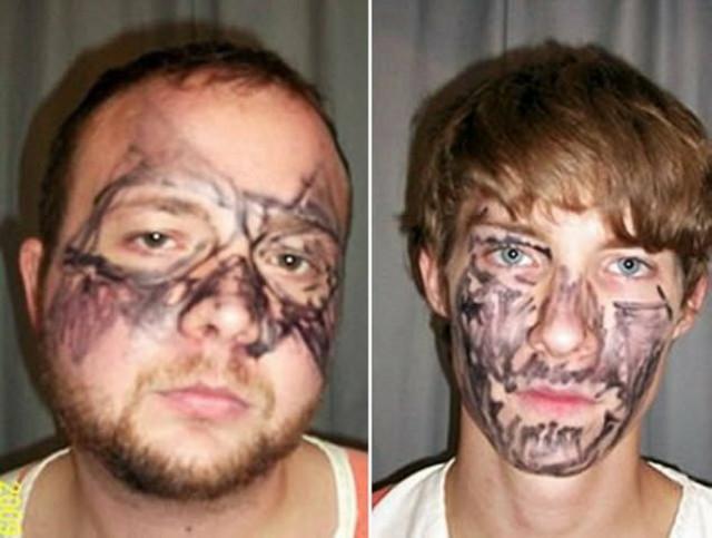 Lopovi koji su sebi nacrtali maske