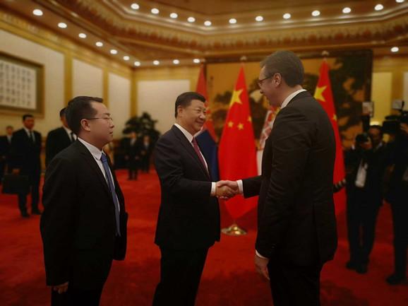 Aleksandar Vučić juče sa Si Đinpingom, predsednikom Kine