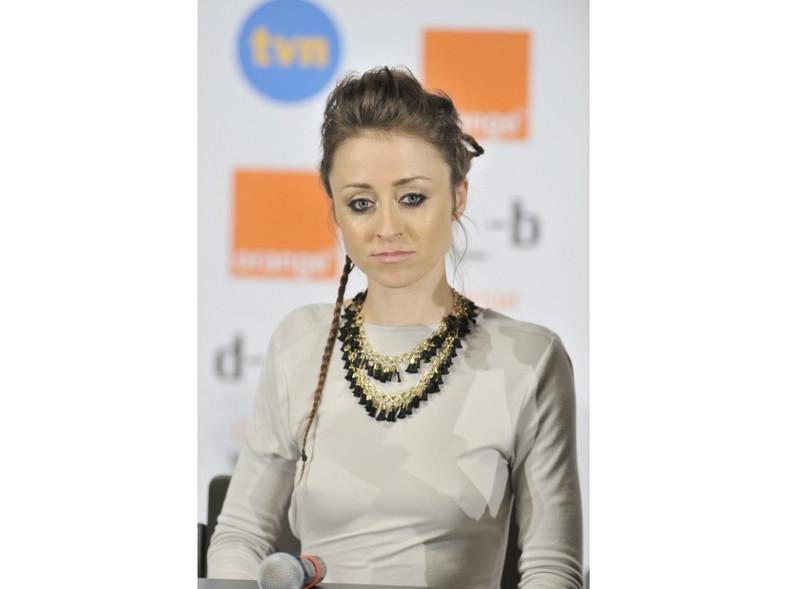 Natalia Przybysz w seksownej kreacji przed występem na Orange Warsaw Festival 2011.