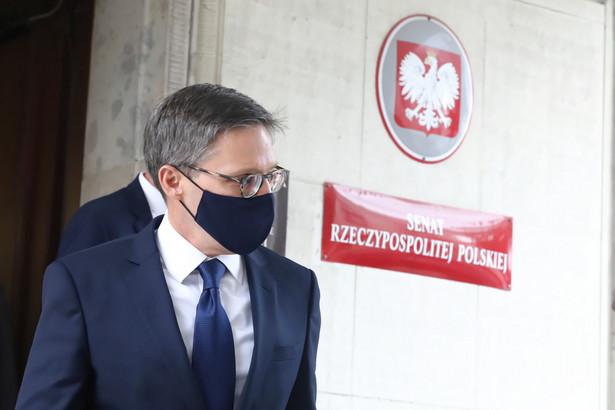 Przebywający z wizytą w Polsce doradca Departamentu Stanu USA Derek Chollet po spotkaniu z marszałkiem Senatu RP prof. Tomaszem Grodzkim