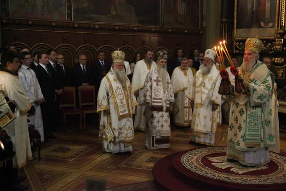 Patirjarh Irinej služio je liturgiju
