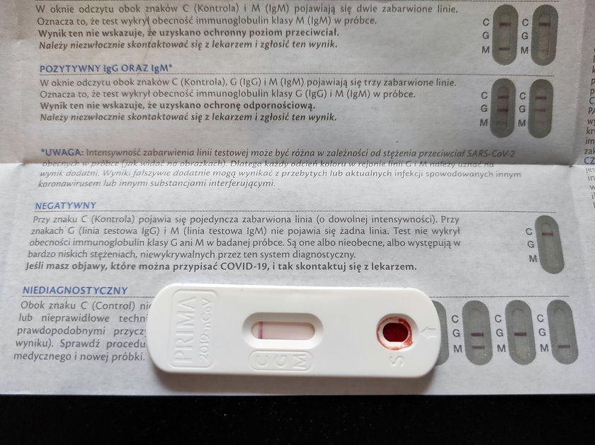 Primacovid - test serologiczny na COVID-19 z Biedronki